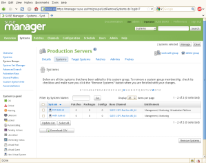 SUSE Manager screenshot